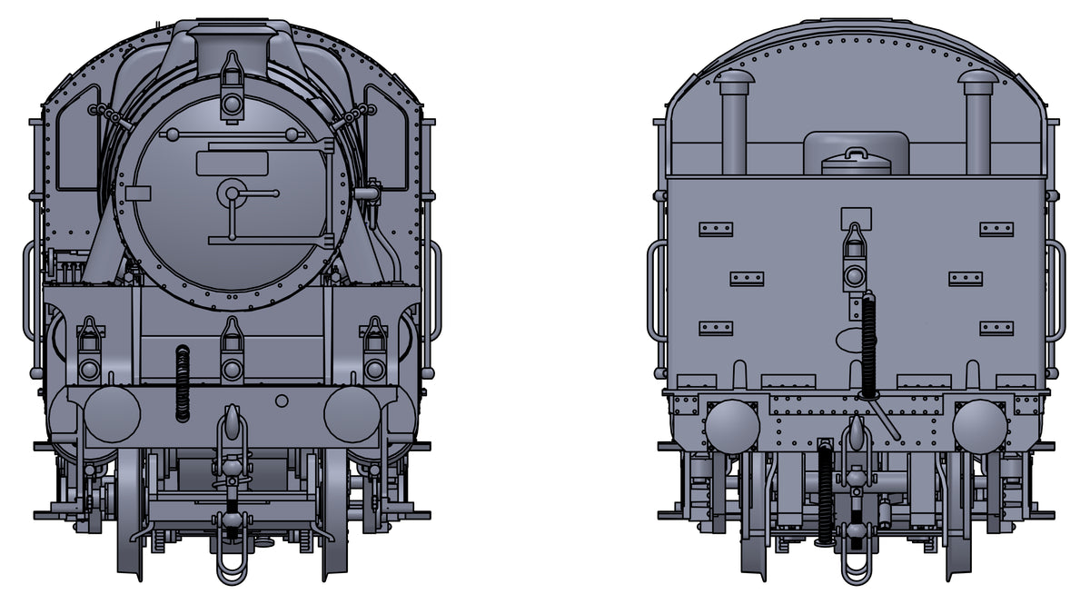 "Darstaed D11-11 7mm Finescale O Gauge Stanier Class 5 4-6-0 ""Black 5"", Late BR Lined, Un-numbered with Riveted Tender (pre-order)"