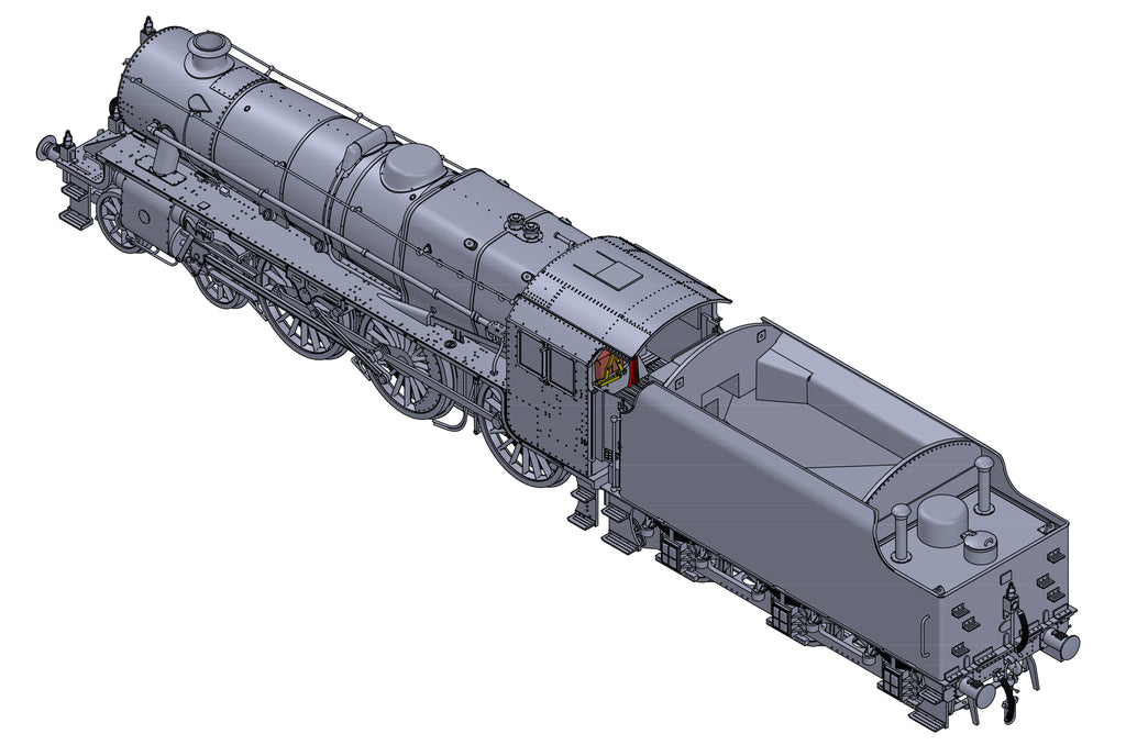 "Darstaed D11-14 7mm Finescale O Gauge Stanier Class 5 4-6-0 ""Black 5"", BR Black, Un-numbered with Riveted Tender (pre-order)"