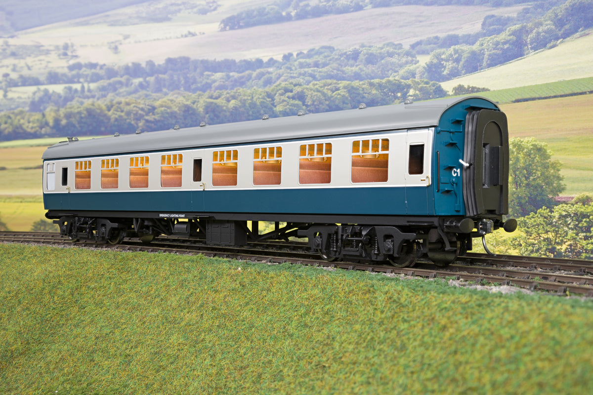 Darstaed D21-4-02 Finescale O Gauge BR Mk1 SK (Second Class Corridor), Blue & Grey
