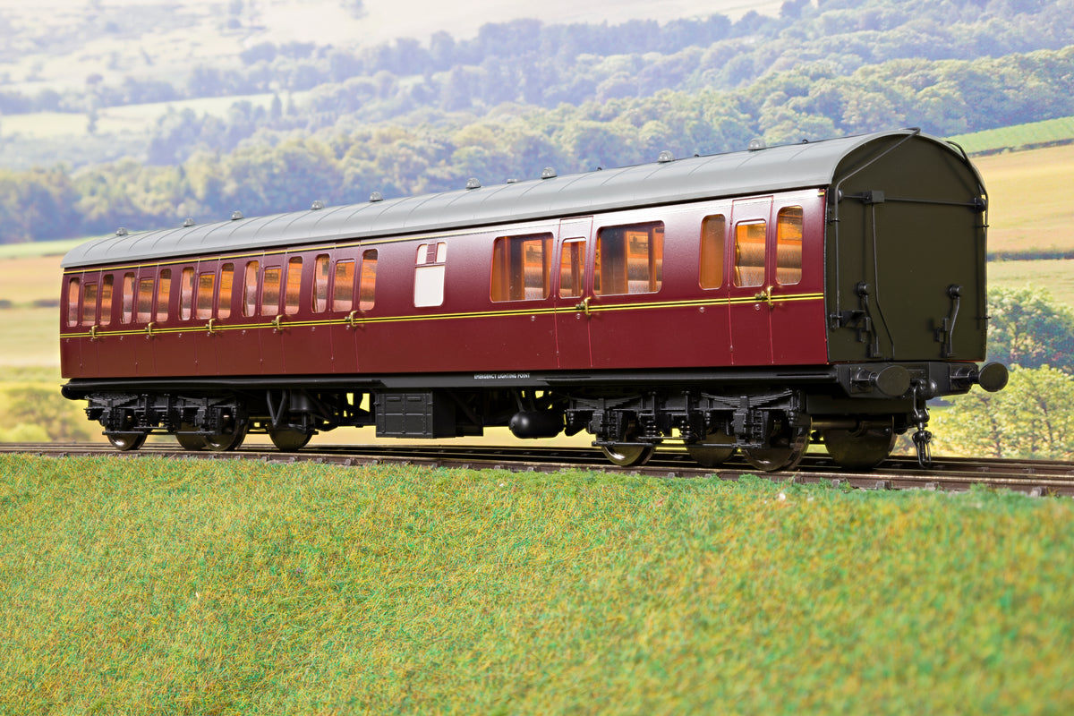 Darstaed D23-3-1 7mm Finescale O Gauge BR 57' Mk1 Suburban Composite with Lavatory (CL) Coach, BR Lined Maroon