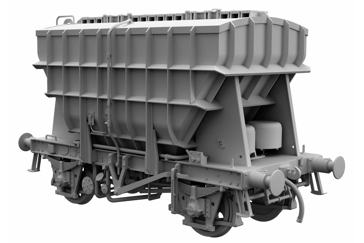 Ellis Clark Trains E73-1-2B Finescale O Gauge Presflo Wagon 'Tunnel Cement' 'B887990' (TOPS), Bauxite (Pre-order)
