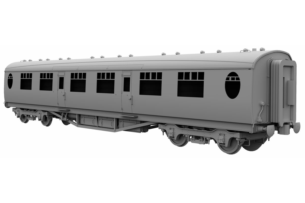 Darstaed D24-3-04RU Finescale O Gauge LNER/BR Thompson Mainline FK (First Class) Coach, Lined Maroon 'Un-numbered' (Pre-order)