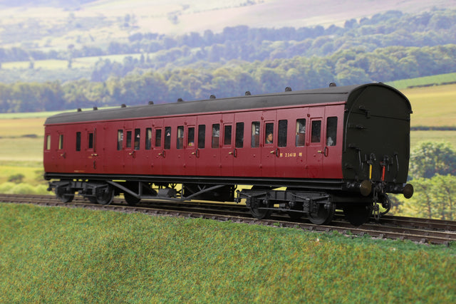 7mm Finescale O Gauge Kit Built LMS Maroon Autocoach 'M23418M'
