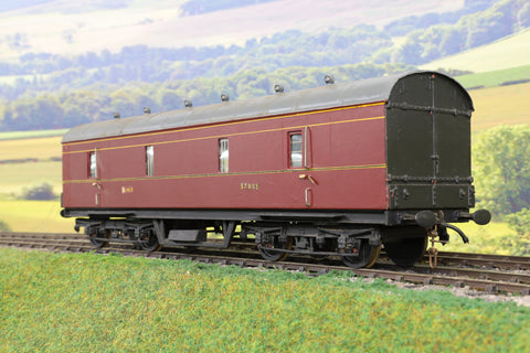 7mm Finescale O Gauge Kit Built LMS Lined Maroon BG '37903'