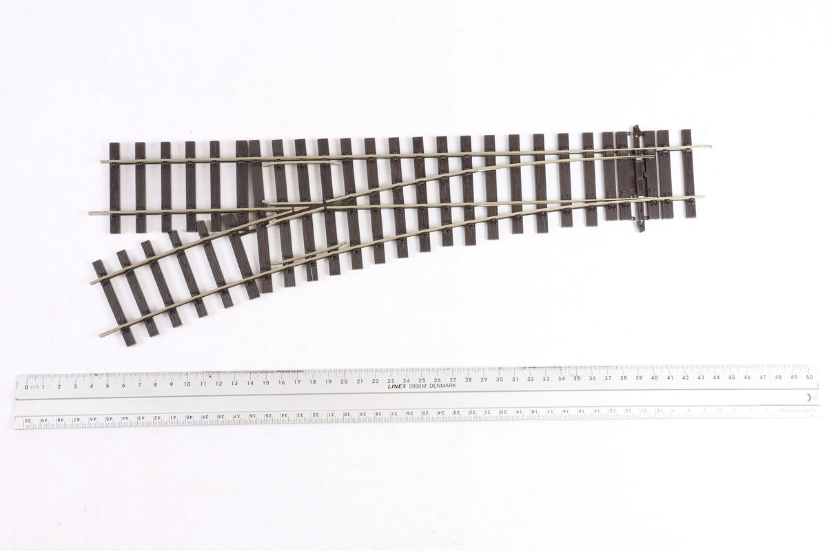 Peco Finescale O Gauge ST-U751BH Setrack 2nd Radius Unifrog Turnout Left Hand