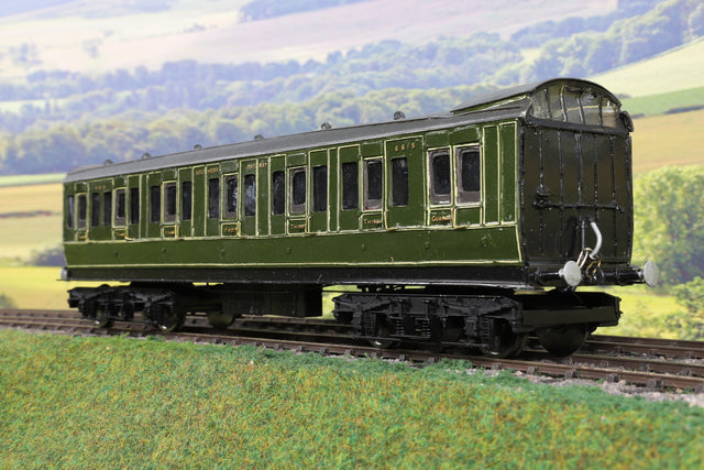 7mm Finescale O Gauge Kit Built SR Lined Green BC Coach '6615'