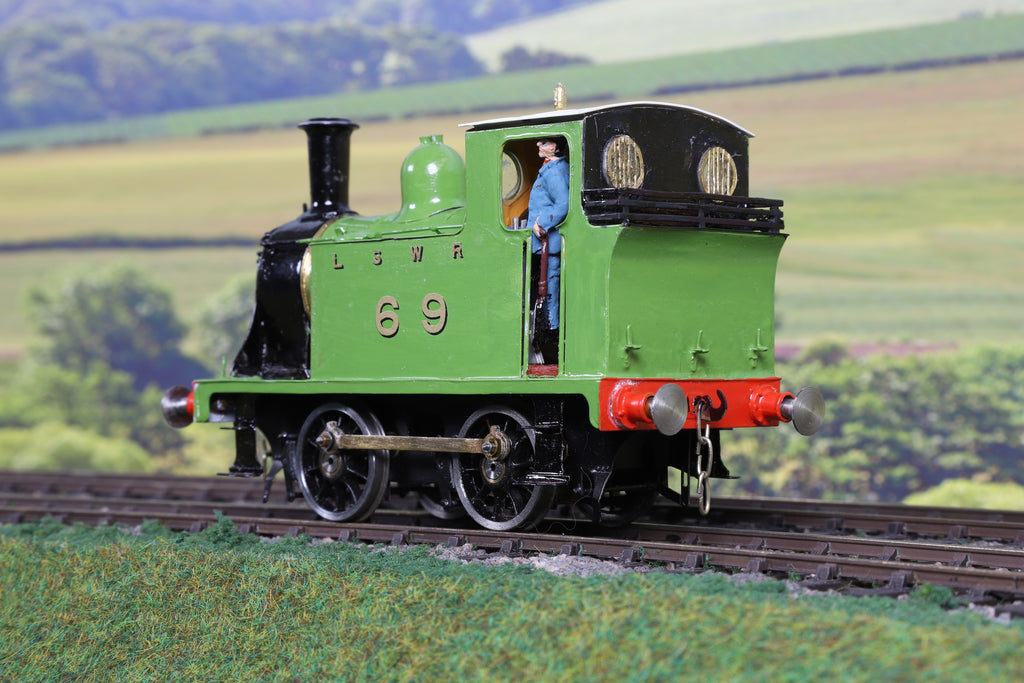 7mm Finescale O Gauge Kit Built LSWR Green S14 0-4-0T '69'