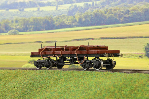 7mm Finescale O Gauge Scratch Built Flat Wagon with Girder Load