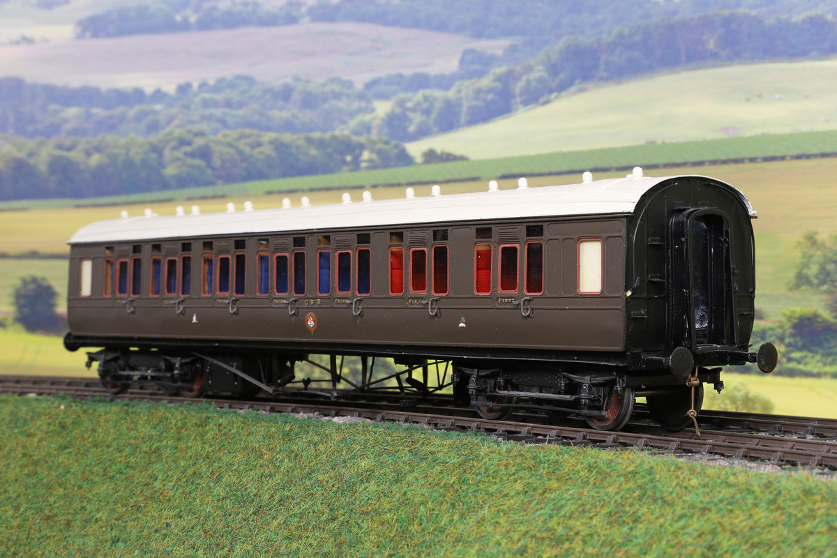 7mm Finescale O Gauge Kit Built GWR Brown/Green CK Passenger Coach