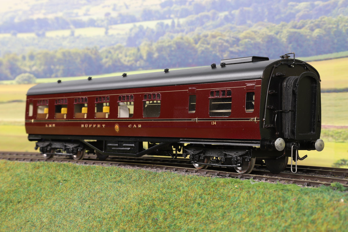 EK Models 7mm Finescale O Gauge Scratch Built LMS Lined Maroon Buffet Car '134'