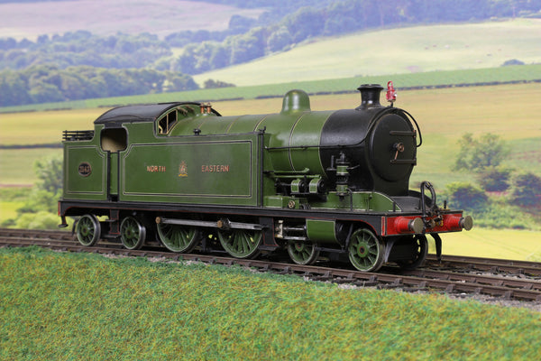 7mm Finescale O Gauge Scratch Built NER Lined Green Class D 4-4-4T '2143' Weathered!