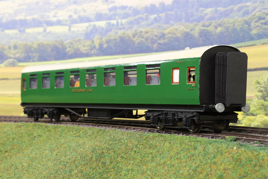 7mm Finescale O Gauge Kit Built SR Green First/Third Restaurant Car '7869'