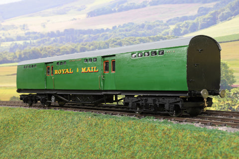 7mm Finescale O Gauge Kit Built SR Green Royal Mail Parcel Coach '4919'