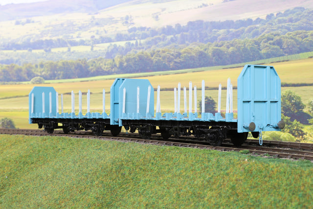 7mm Finescale O Gauge Kit Built Pair of OTA Timber Wagons