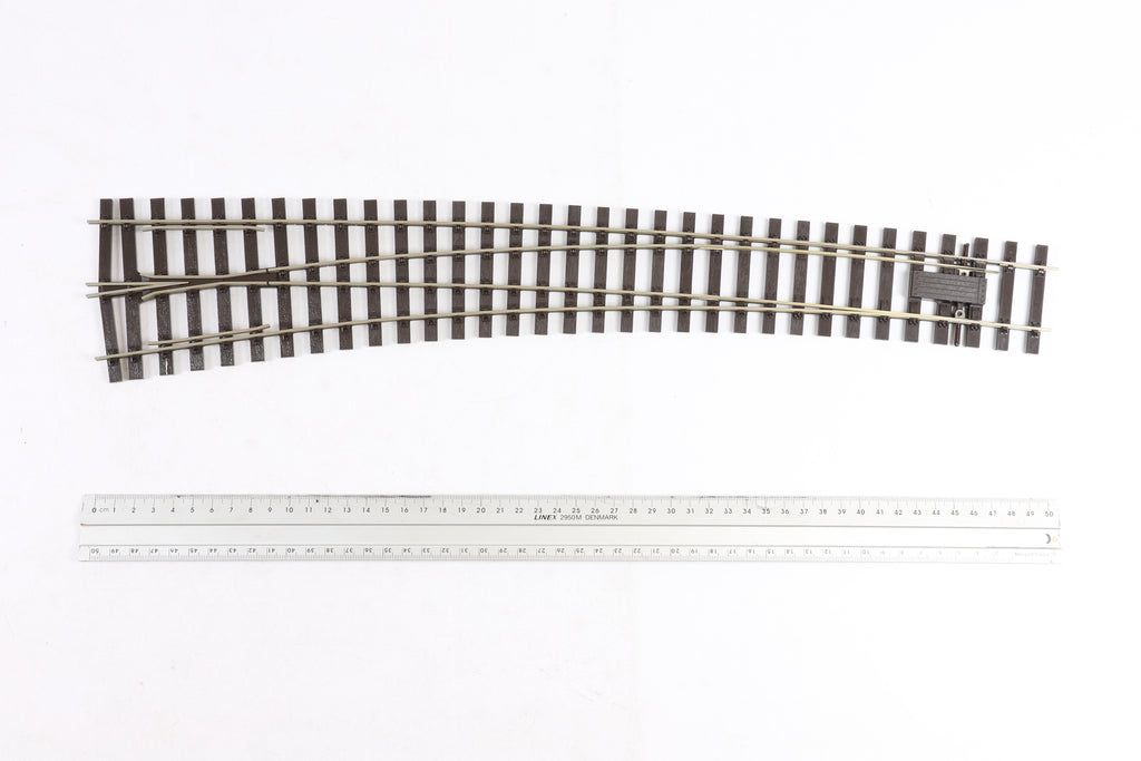 Peco 7mm Finecsale O Gauge SL-E787BH Curved Turnout L/H
