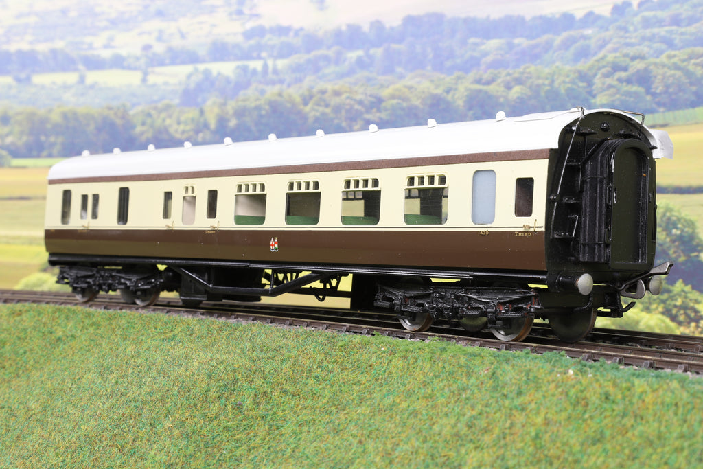 EK Models 7mm Finescale O Gauge Kit Built GWR Chocolate and Cream Brake Third '1430'