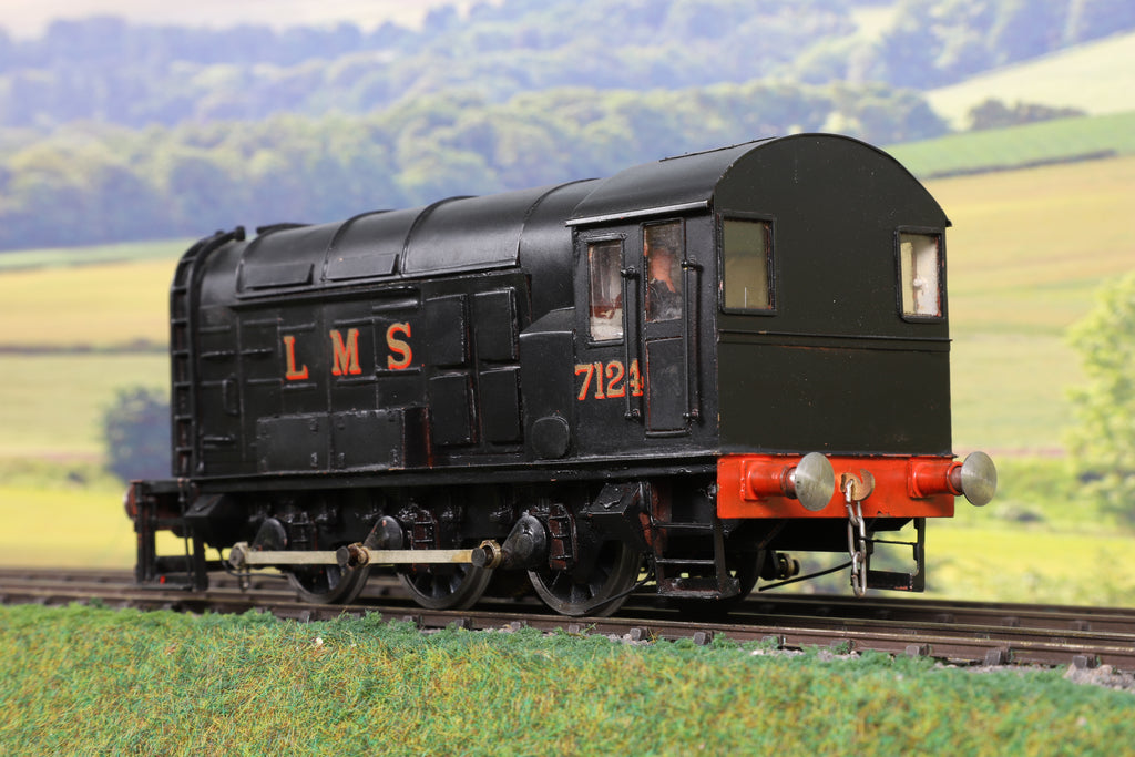 7mm Finescale O Gauge Kit Built LMS Black 08 Shunter '7124'