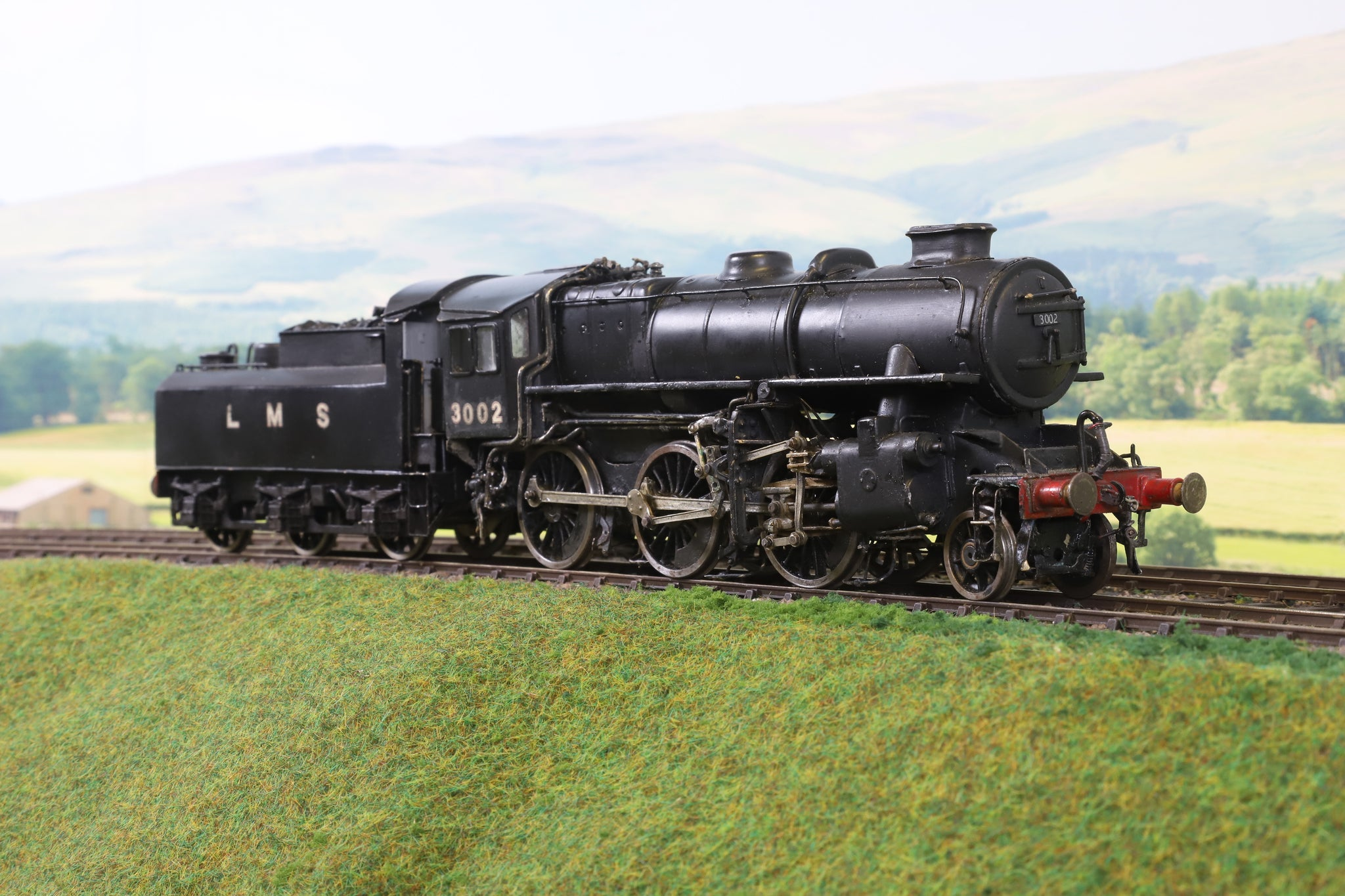 7mm Finescale O Gauge Scratch Built LMS Black Ivatt Class 4 2-6-0 '3002'