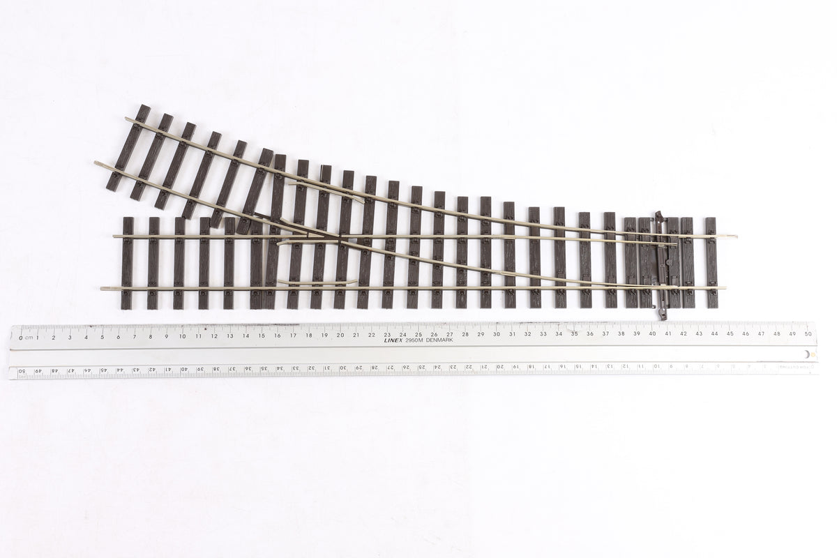 Peco Finescale O Gauge ST-U750BH Setrack 2nd Radius Unifrog Turnout Right Hand