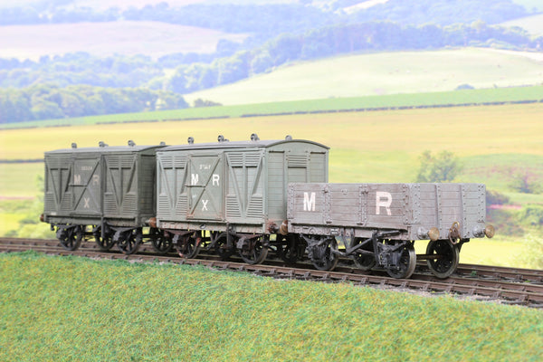 7mm Finescale O Gauge Rake of Three MR Wagons Weathered!