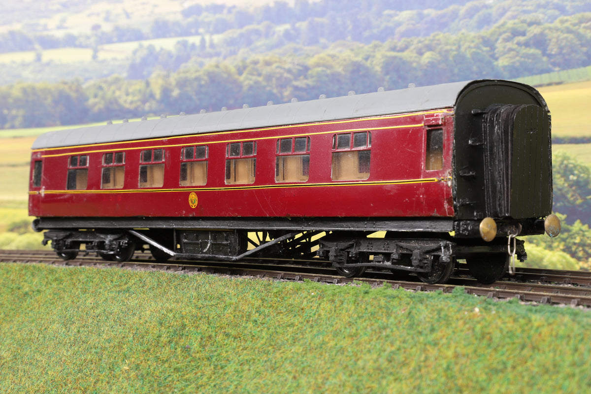 7mm Finescale O Gauge Kit Built LMS Lined Maroon TK