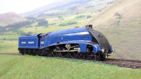 DJH 7mm Finescale O Gauge Kit Built BR Experimental Blue A4 4-6-2 '60027' 'Merlin' Limited Edition!