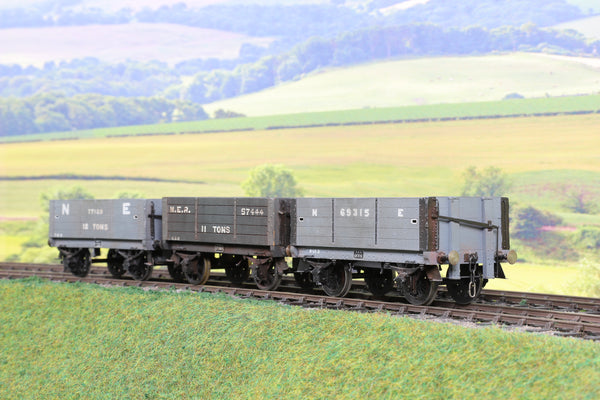 7mm Finescale O Gauge Kit Built NER Hopper Wagons Weathered!