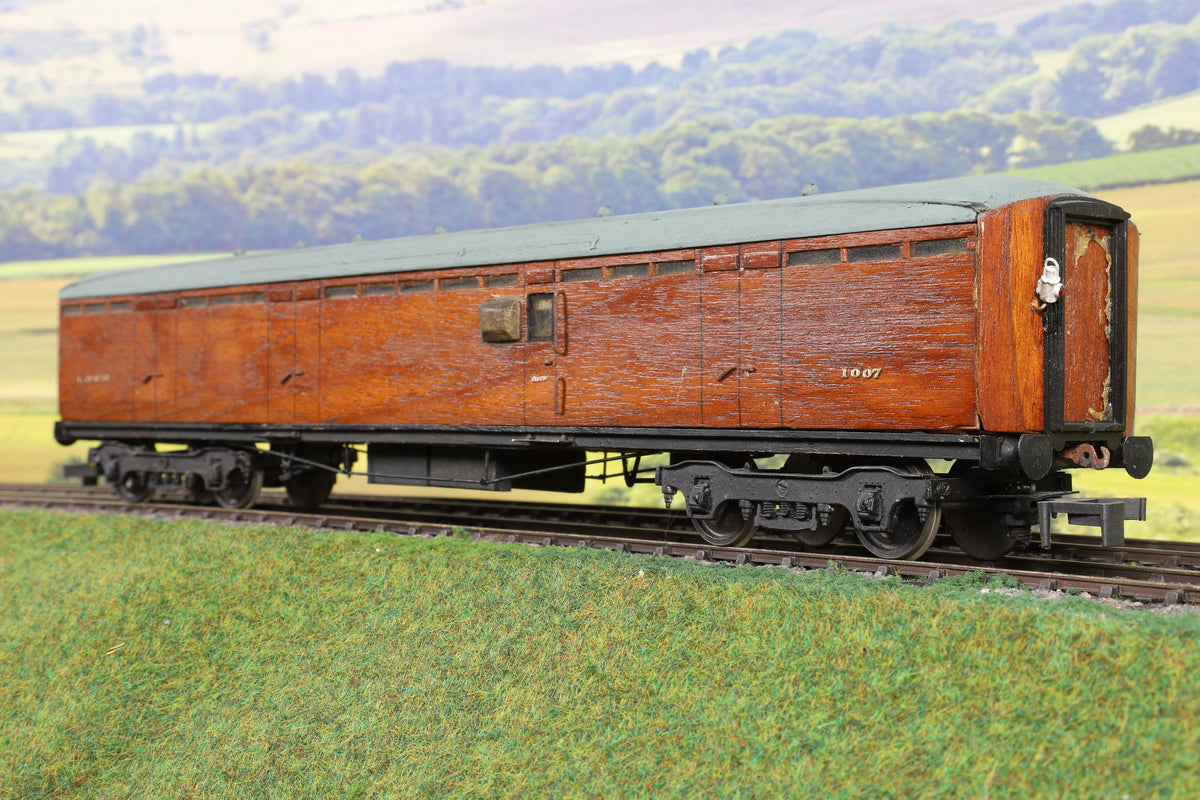 7mm Finescale O Gauge Kit Built LNER Teak BG Coach '1007'