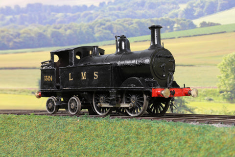 7mm Finescale O Gauge Kit Built LMS Black Wainwright H Class 0-4-4T '1324'