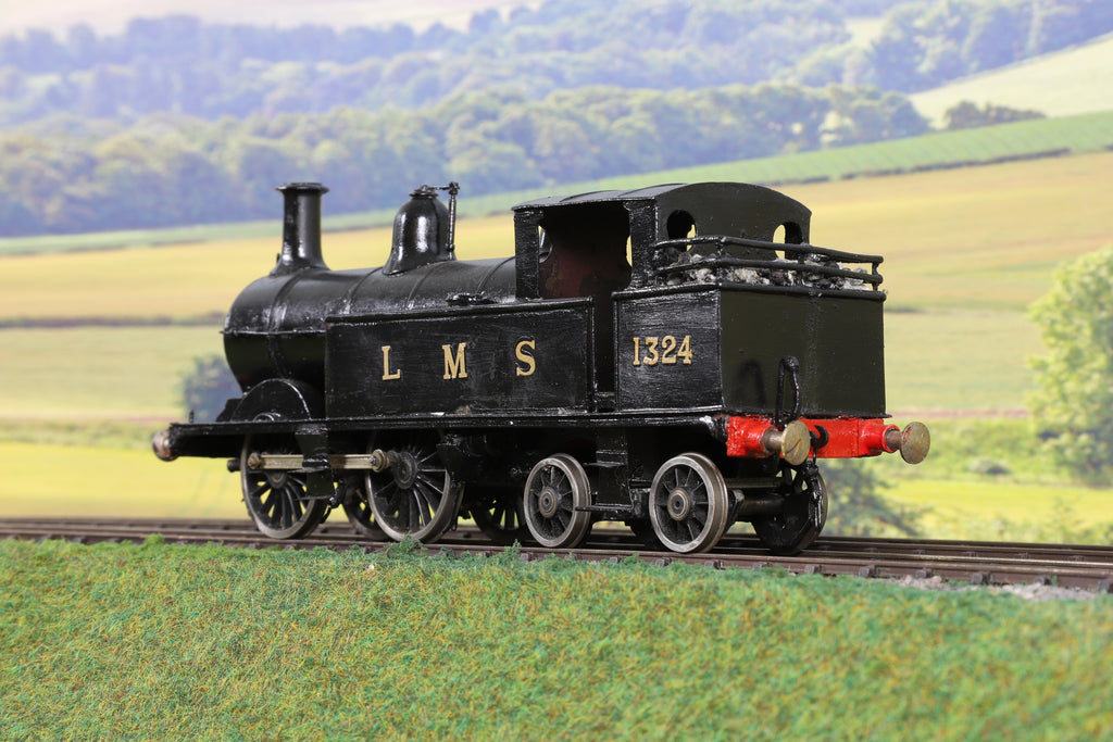 7mm Finescale O Gauge Kit Built LMS Black 1P Johnson 0-4-4T '1324'
