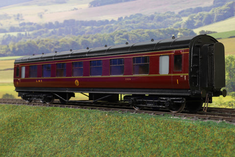 Exley 7mm Finescale O Gauge LMS Lined Maroon CK Coach '3335'