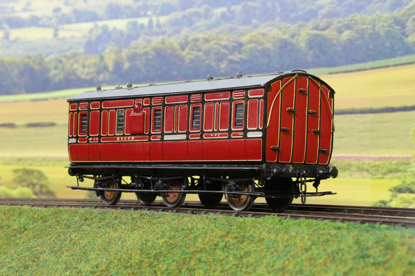 7mm Finescale O Gauge Kit Built M&GSW Lined Maroon Six Wheel Brake Van '442'