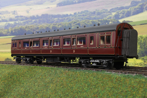 7mm Finescale O Gauge Kit Built LMS Lined Maroon CK '9560'