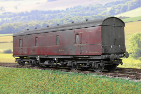 7mm Finescale O Gauge Kit Built Ex-LMS BR Lined Maroon GUV 'M37884' Weathered!