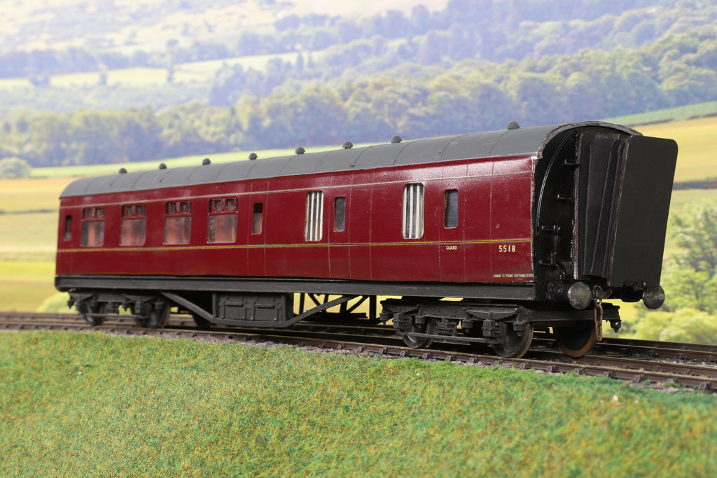 7mm Finescale O Gauge Kit Built Lined Maroon BSK '5518'