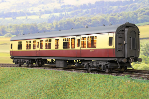 Darstaed 7mm Finescale O Gauge BR Mk1 Blood and Custard CK 'E15133' Professionally Weathered and Numbered