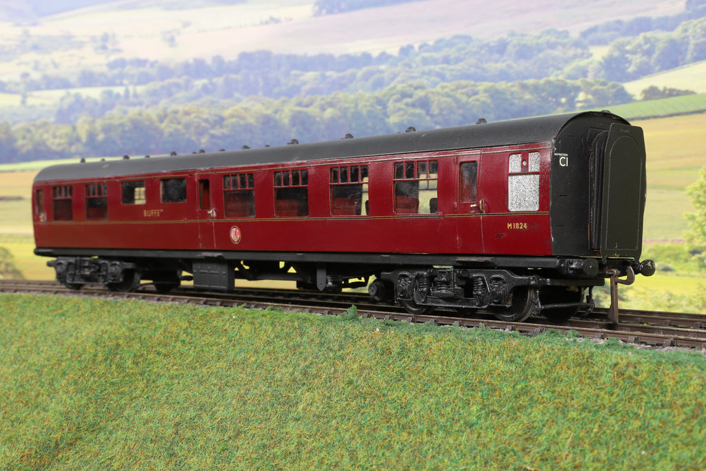 7mm Finescale O Gauge Kit Built BR Maroon Mk1 RMB 'M1824'