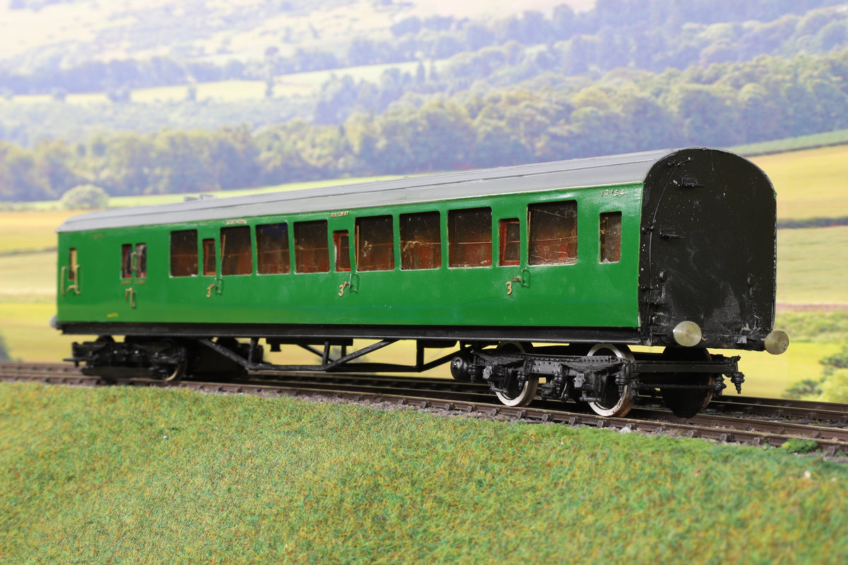7mm Finescale O Gauge Kit Built SR Green Motor End for a Two Car Unit '10574'