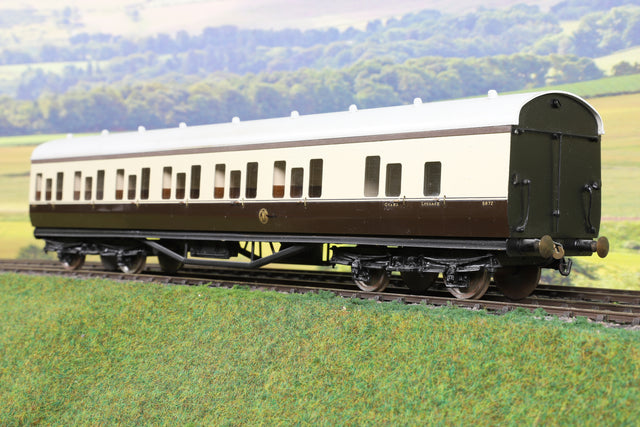 7mm Finescale O Gauge Kit Built GWR Chocolate and Cream Collett BS Coach '5872'