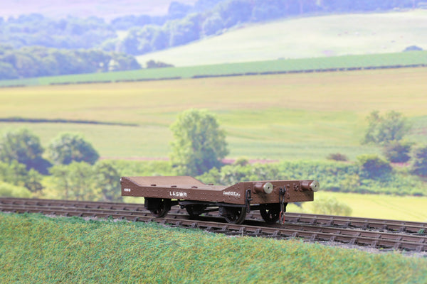 7mm Finescale O Gauge Kit/Scratch Built LSWR Flat Wagon Weathered