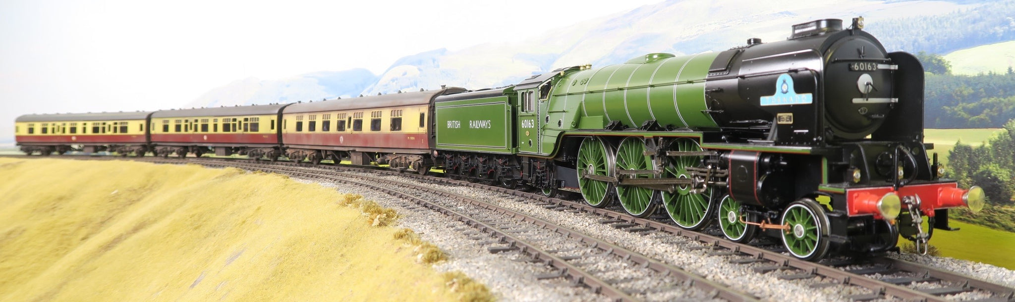 Golden Age Models 7mm Finescale O Gauge BR A1 Apple Green #3 Type '60163' 'Tornado' DCC Sound!