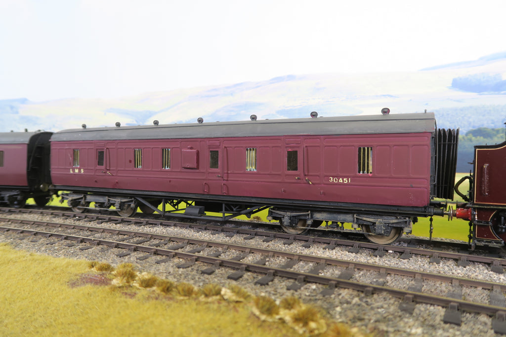 7mm Finescale O Gauge Kit Built LMS Maroon Full Brake Coach '31904'