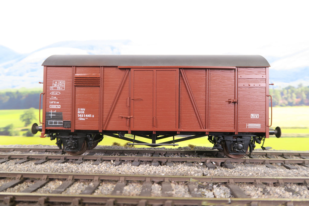 Horst Gebauer O Gauge Deutsche Bundesbahn Four Wheeled Covered Wagon '1451441'