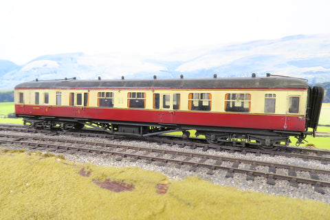 7mm Finescale O Gauge Kit Built BR Ex-GWR Blood and Custard Brake Composite Coach 'W7840'