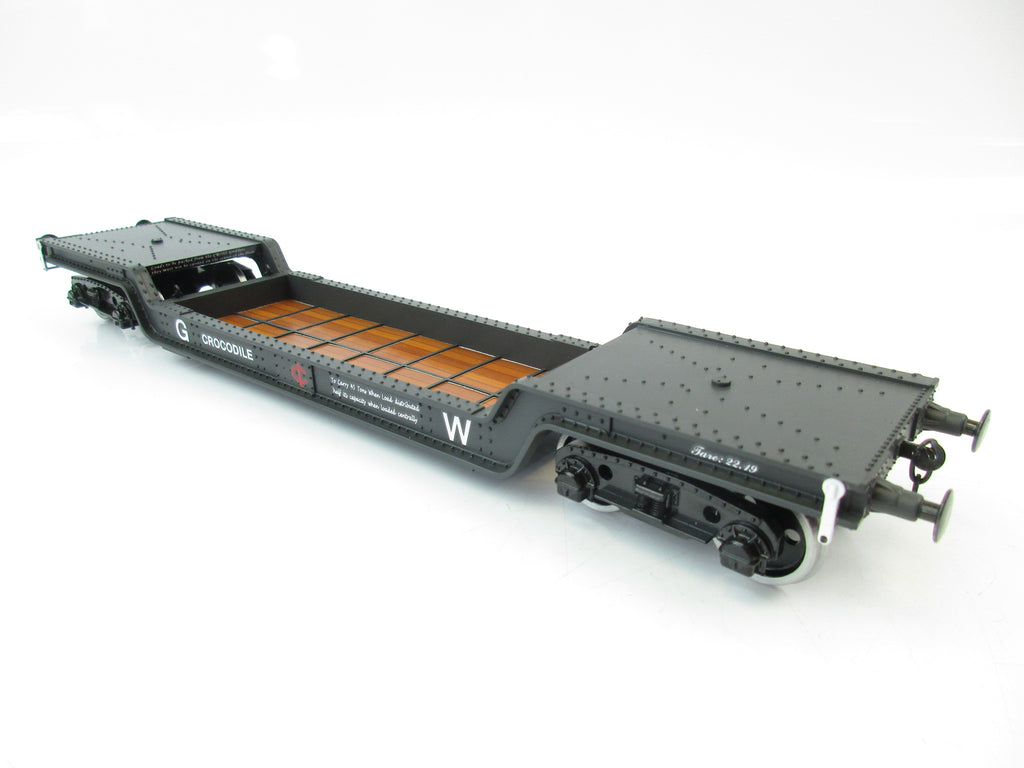 Darstaed D32-4 7mm Finescale O Gauge 45 Ton Bogie Well Wagon GWR Livery