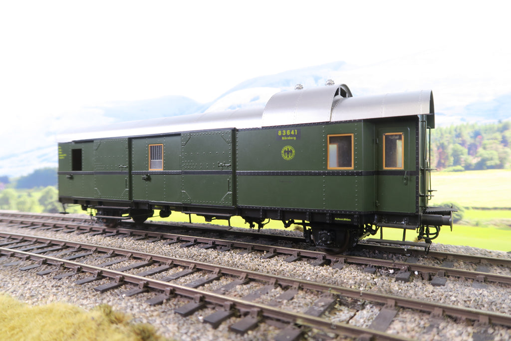 Horst Gebauer (or Similar) O Gauge DR Green Baggage Car '83641'
