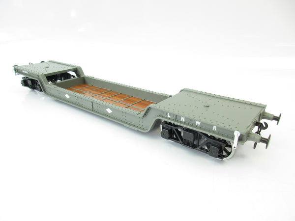 Darstaed 7mm Finescale O Gauge 45 Ton Bogie Well Wagon LNWR Livery