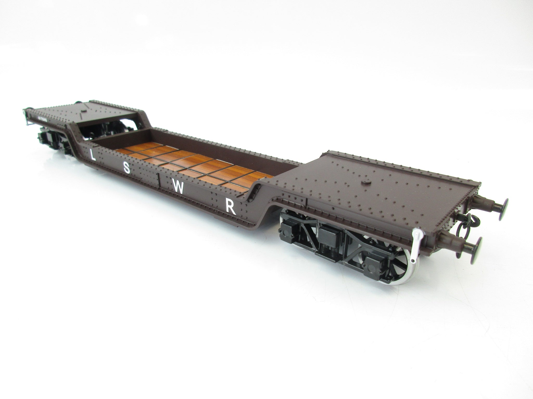 Darstaed 7mm Finescale O Gauge 45 Ton Bogie Well Wagon LSWR Livery
