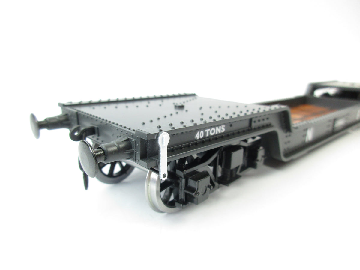Darstaed D32-10 7mm Finescale O Gauge 45 Ton Bogie Well Wagon NE Livery