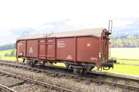 Bie Mo O Gauge DB Slide Roof Wagon '365 324' Weathered!